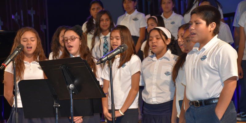 scholarship prep students singing