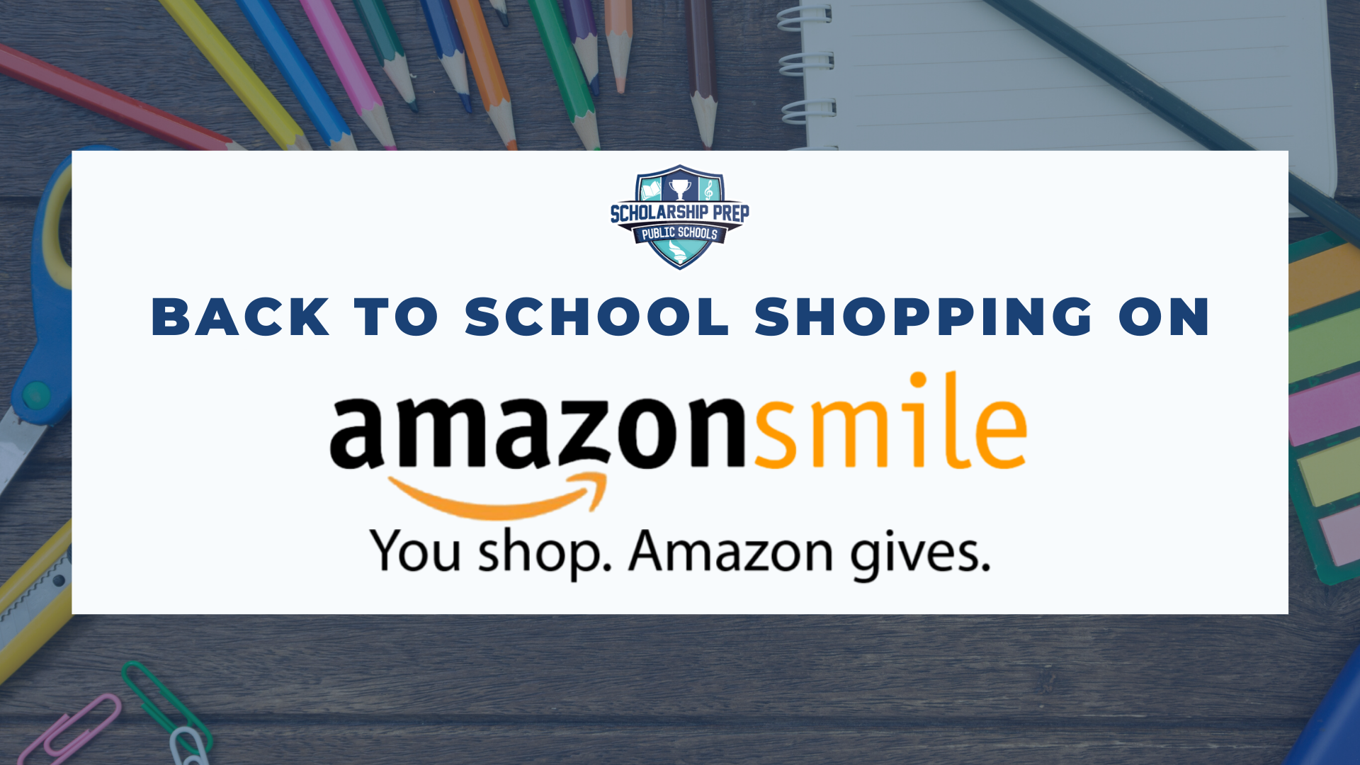 Back to School Shopping Through Amazon Smile